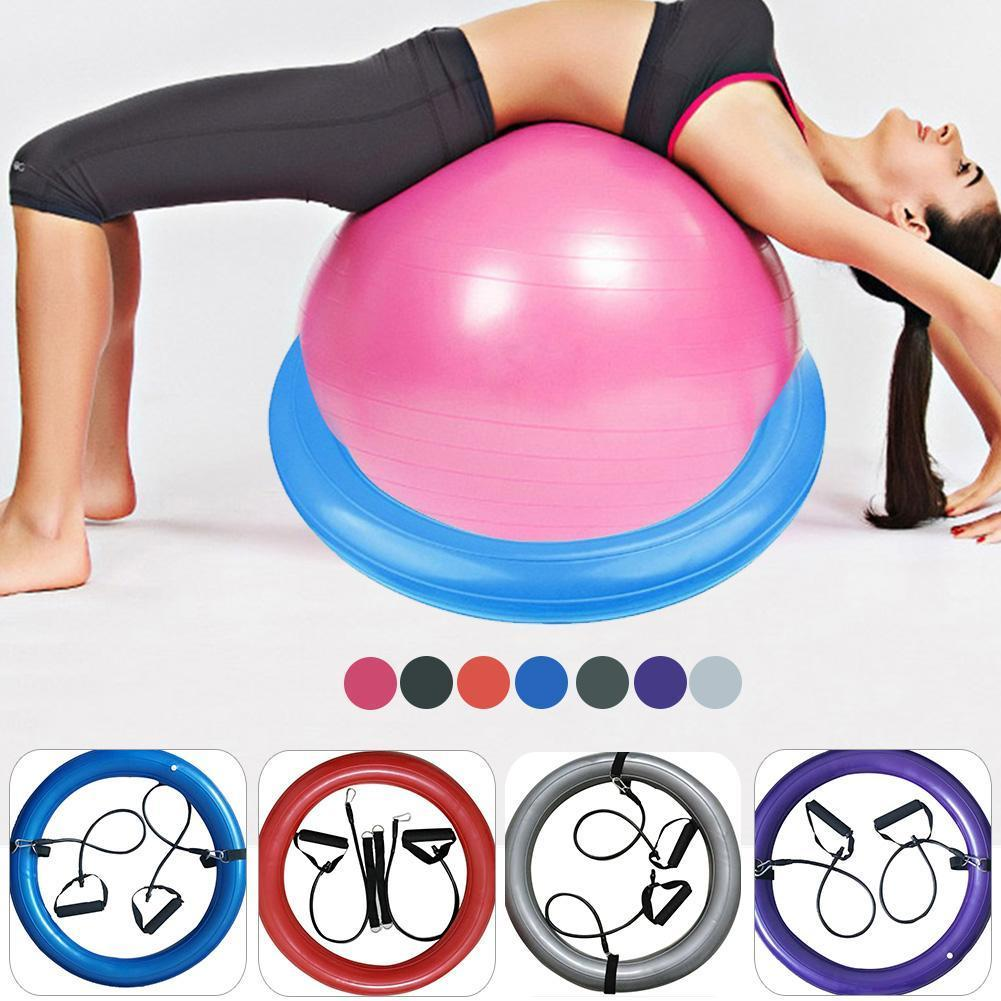 High Quality PVC Yoga Ball Base Explosion Proof Yoga Ball Fixed Base  Exercise Gym Ball Sport Fitball Proof Random Color Delivery C18112601 Jill  Miller Yoga ... ee45a66ea996