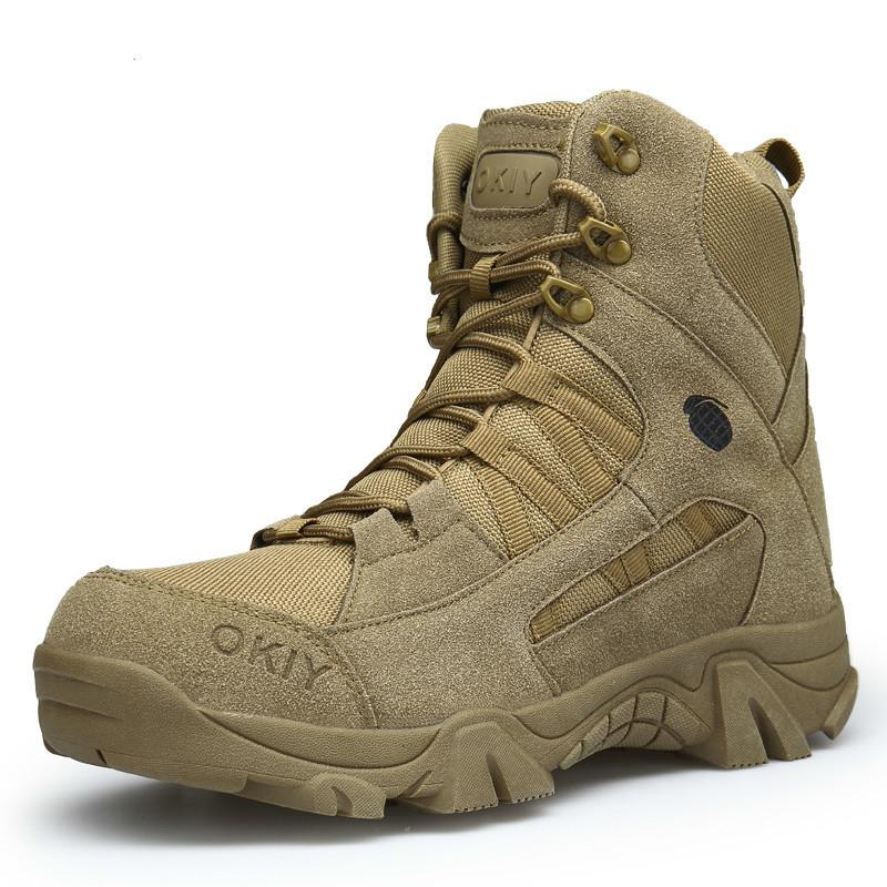 b5aee908118 2019 Winter Fashion Military Boots Men s Comfortable Ankle Boots Men Work  Shoes Army Desert Combat Boots Men Snow Footwear