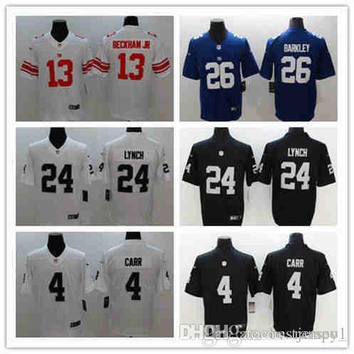 Cheap 2018 New Oakland Raiders 24 Marshawn Lynch 4 Derek Carr New York  Giants 26 Saquon Barkley 13 Odell Beckham Jr Football Jerseys aa2d25c5f