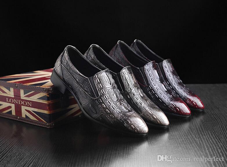 d01652785 Men Dress Shoes Men Formal Shoes Leather Luxury Fashion Wedding Shoes Men  Business Casual Oxford Shoe S Men Shoes British Leather Shoes Dress Shoes  Online ...