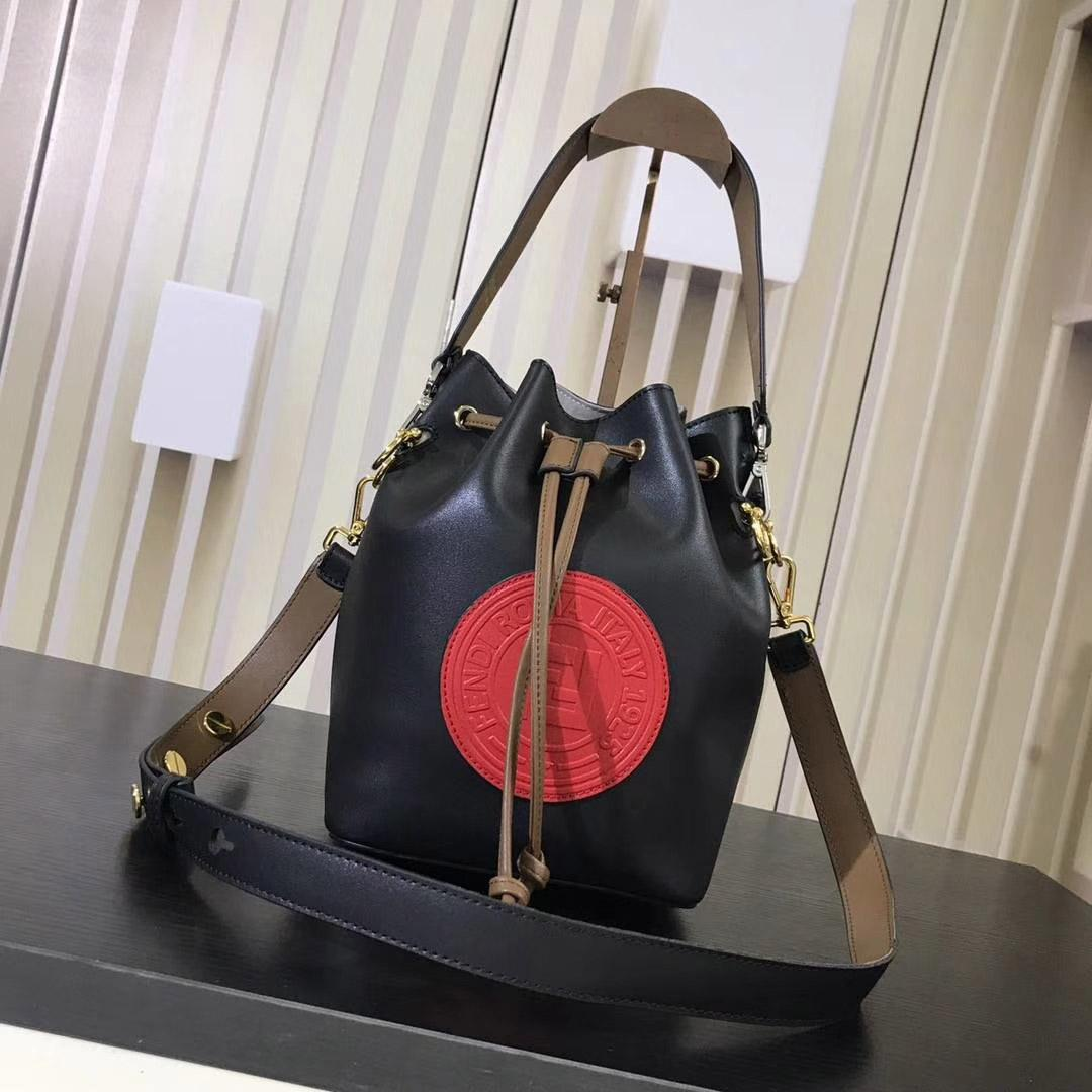 2a09612f2 New Designer Ladies Calfskin Medium Bucket Bag Drawstring Opening And  Closing Cowhide Double F Logo Size 17   15   25cm 5508 Bags Purses From  Top handbag4
