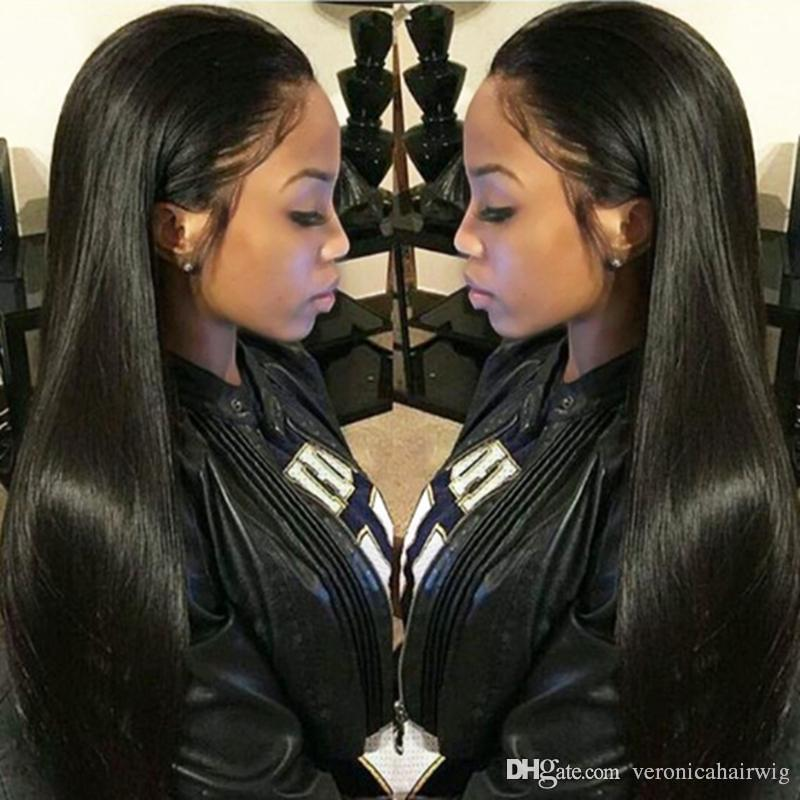 57496ea75 Long Straight Lace Front Human Hair Wigs Free Part Brazilian Remy Hair  10