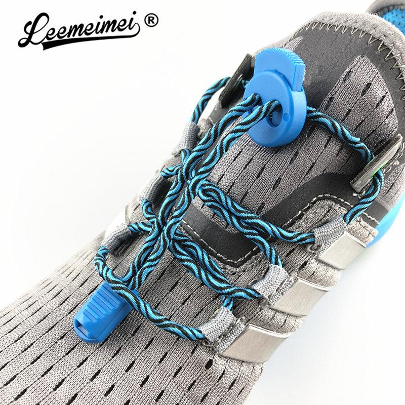 d087d2835305c Stretching Lock lace 7 colors a pair Of Locking Shoe Laces Elastic Sneaker  Shoelaces Shoestrings Running/Jogging/Triathlon
