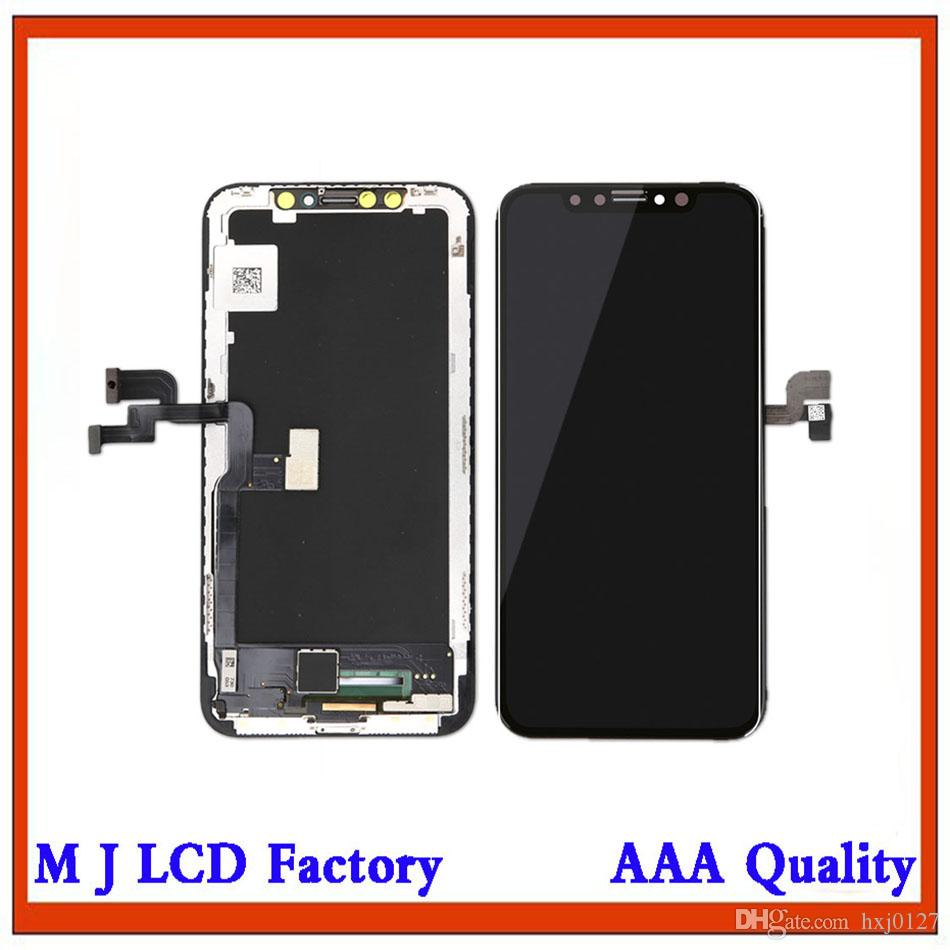 on sale 4abde c6eb0 For iPhone X Perfectly OLED Screen Display Touch Digitizer Screen Complete  Assembly Replacement 5.8 Inch LCD Free DHL