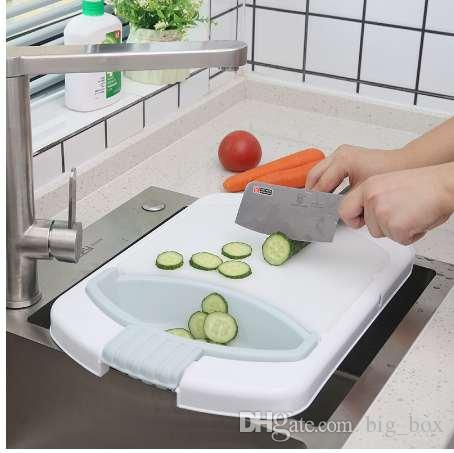 X22 Kitchen sink cutting board Multi Function Folding Telescopic Cutting  Board Kitchen Food Chopping Block Kitchen Accessories
