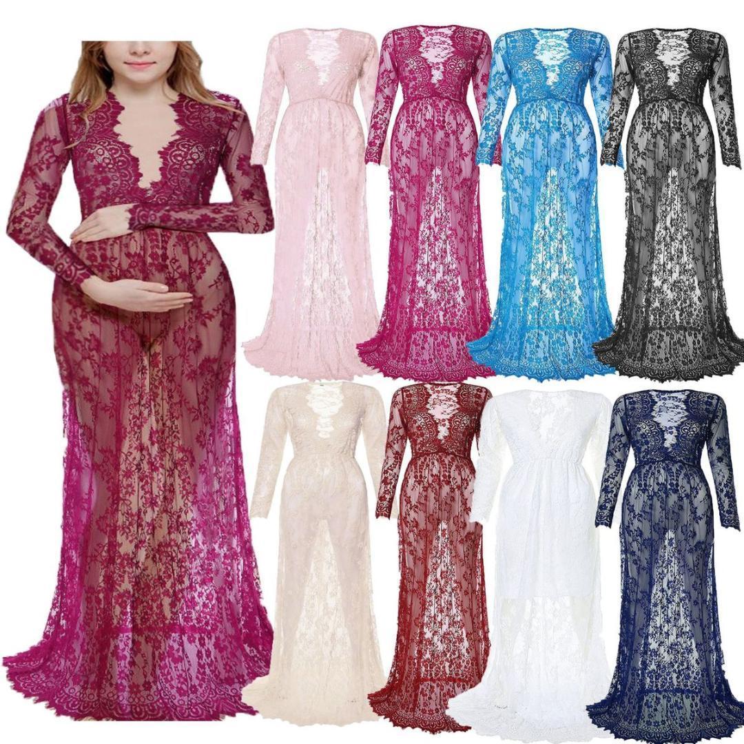 d63ec2c05c3d0 White Long Sleeve Lace Maternity Dress – DACC