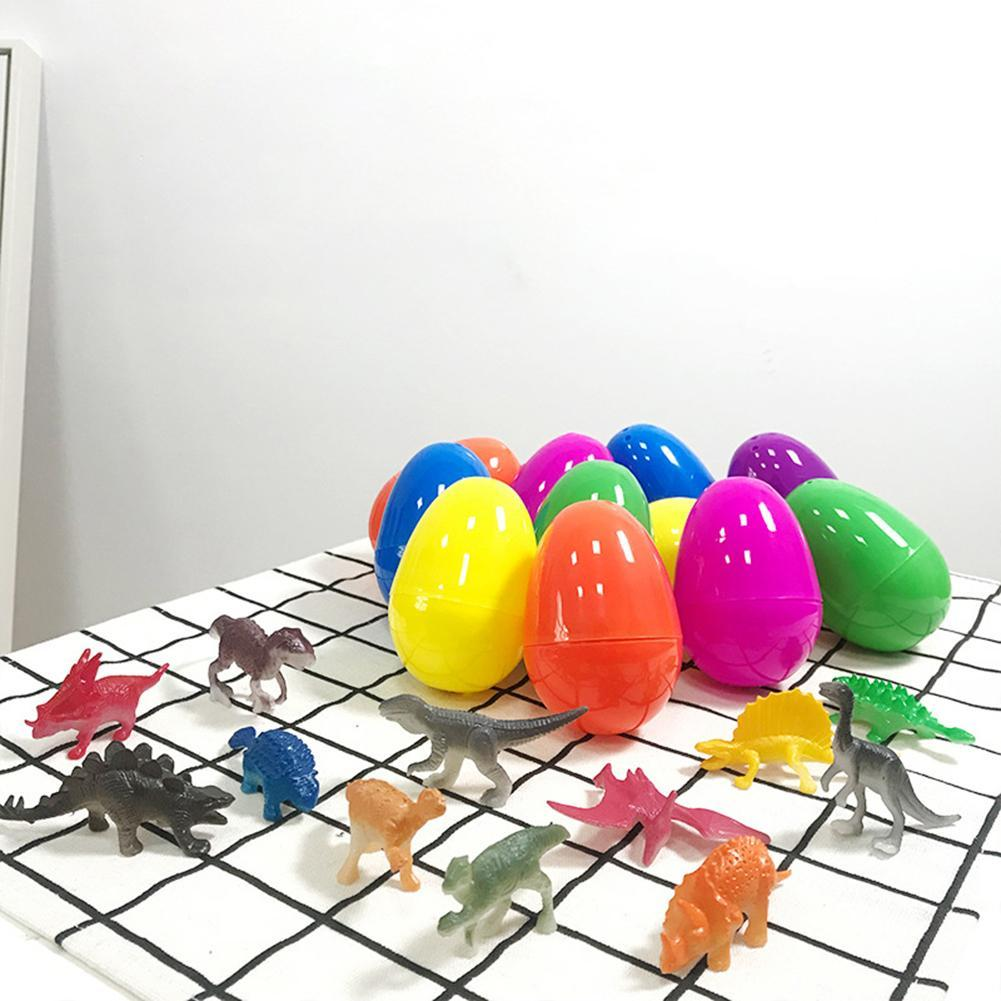 12Pcs Plastic Dinosaur Easter Egg Holiday Party Kids Children Gift Toy Decor