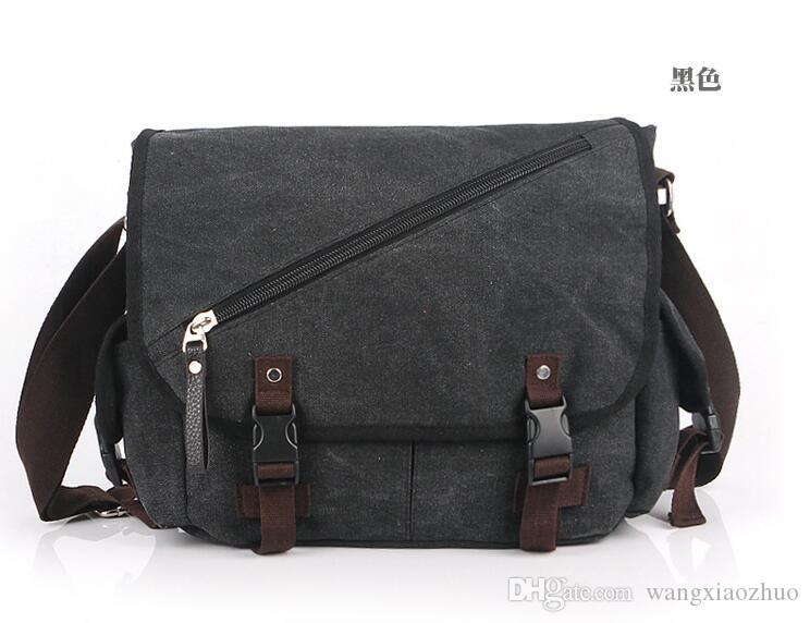 eee575a28c0 Messenger Bag School Shoulder Bag Men S Vintage Crossbody Satchel Canvas  Leather Designer Bags Wallets For Women From Wangxiaozhuo,  32.04   DHgate.Com