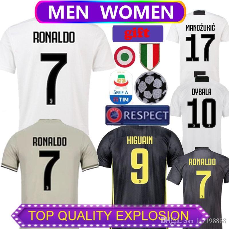 f600e7584e0b6 Juventus 2018 19 En Casa Tercera Camiseta De Fútbol De Manga Corta Para  Hombre