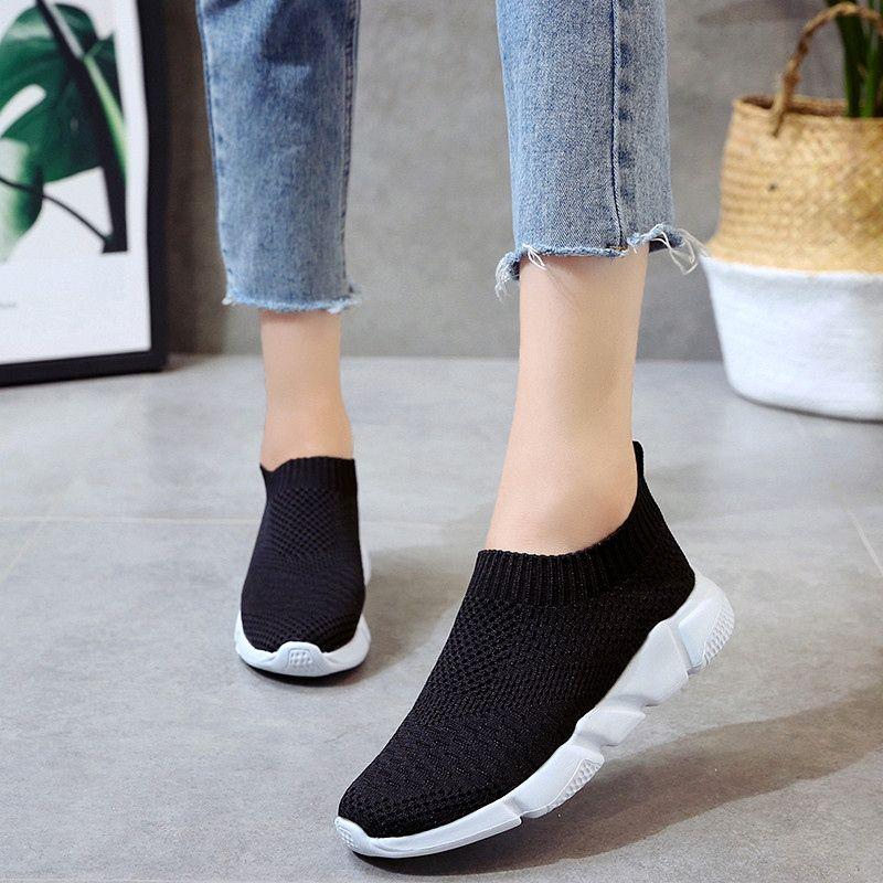 025bcde79c Weweya Slip On Sock Shoes Women Sneakers Trainers Women Driving Shoes Woman  Vulcanized Shoe Flats Sock Sneakers zapatos de mujer #9839