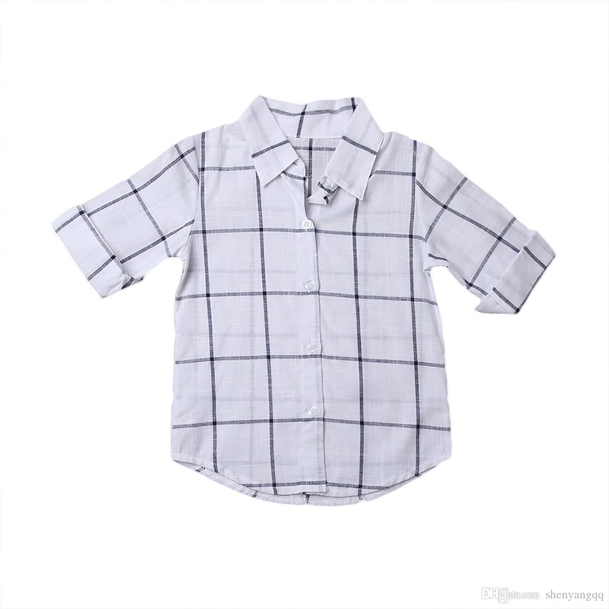 Newborn Baby Girls Outfits Clothes Summer Boy Girl Plaid Checks Dress Outfits New Kids Clothing Set