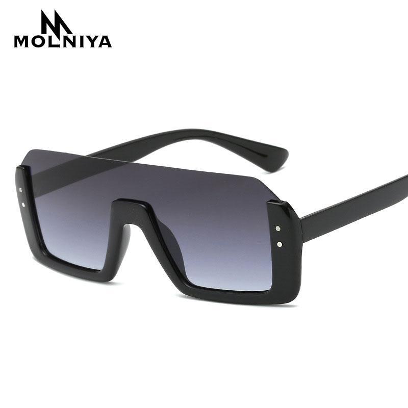 a54d8a4af6 2019 Men Square Semi Rimless Sunglasses New Big Frame Goggle Summer Style  Brand Design Rivet Sun Glasses Gafas De Sol Mirror Sunglasses For Men  Prescription ...