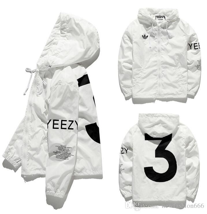2592723eba0a 19ss Italy Yeezus Print Jackets Men New Luxury Brand Windbreaker Men ...