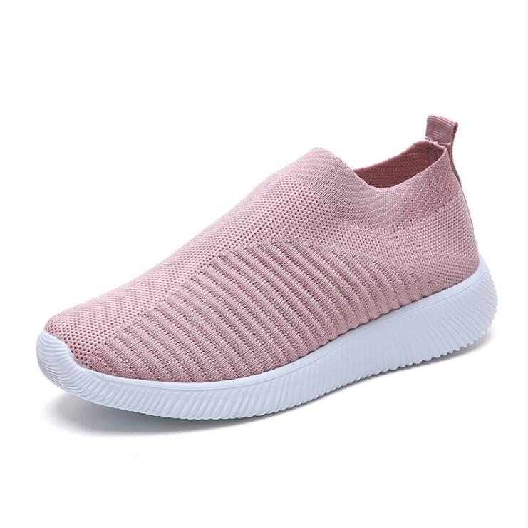 Moda Sneakers Casual Donna Slip Mesh Flat Calzino Acquista On Air gYbfvI76y