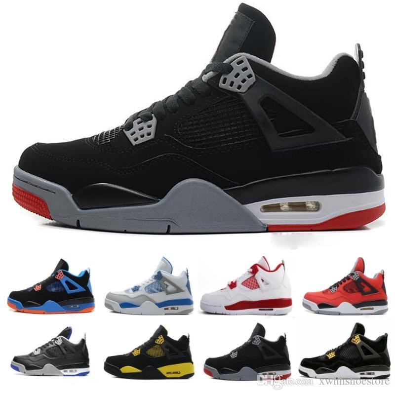 online retailer 0c5c9 fc4b5 Compre Nike Air Jordan Aj4 Retro 2019 Nuevo 4 4s Hombres Zapatillas De  Baloncesto Toro Bravo Cactus Jack 2012 Lanzamiento Cemento Blanco Deporte  Zapatillas ...