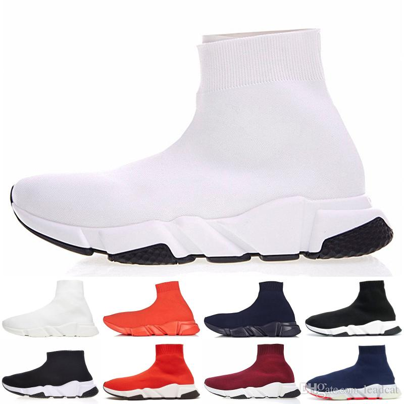 the best attitude classic styles competitive price Noir Rouge Chaussettes Blanc Balenciaga 2019 Occasionnel ...