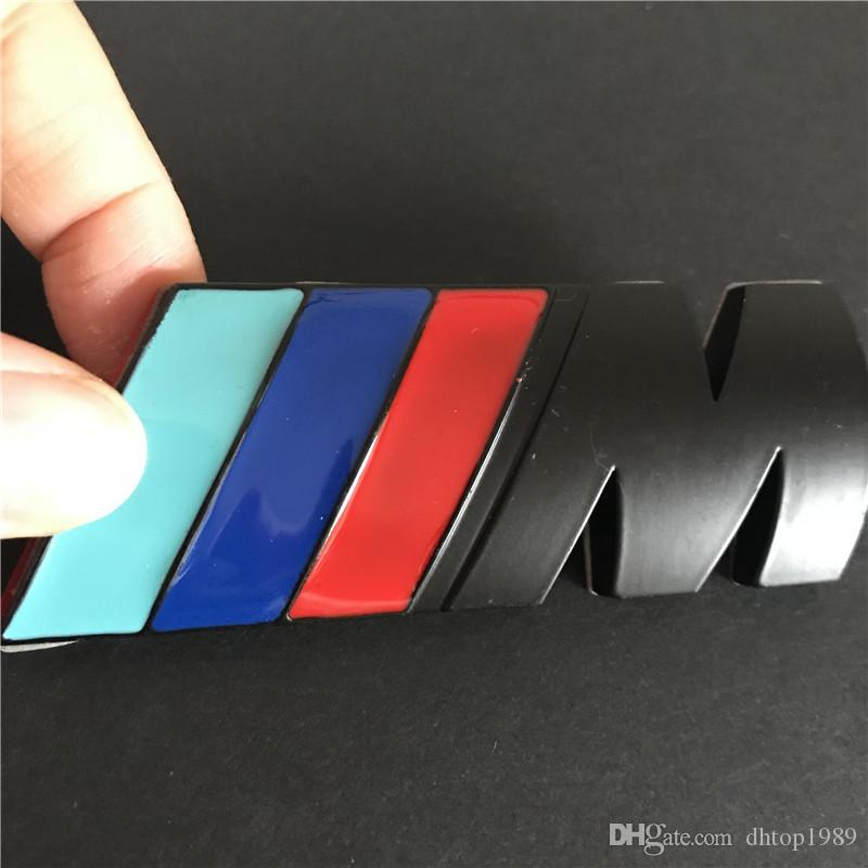 3D black badge M Power For BMW Rear Emblem Car Decal Logo Sticker Chrome
