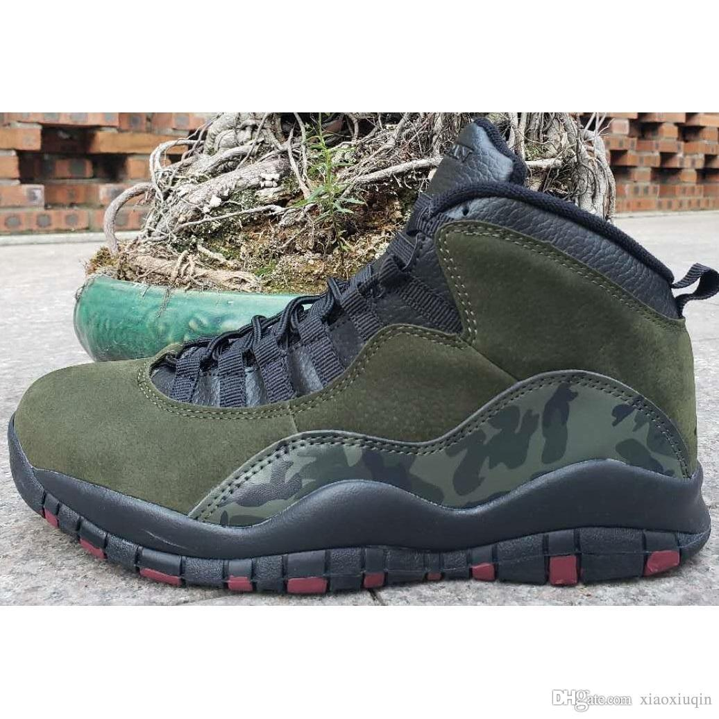 85ef2ba09b78 2019 Cheap Mens Retro 10s Basketball Shoes Aj10 Olive Green Racer Blue  Tinker Air Flight J10 Youth Kids Jumpman X 10 Sneakers Tennis With Box From  ...