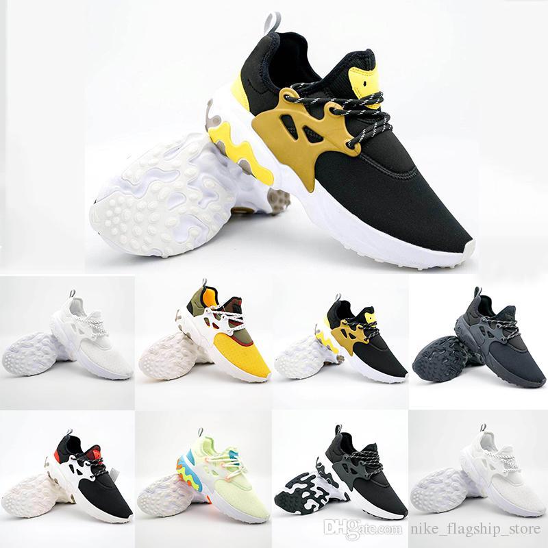 factory authentic 8d1cb c6885 Compre 2019 Nuevo Presto Mid Epic React Hombres Mujeres Zapatos Corrientes  Cómodo Sentido Del Malla Transpirable Zapatillas Negro Blanco Zapatos  Casuales 36 ...