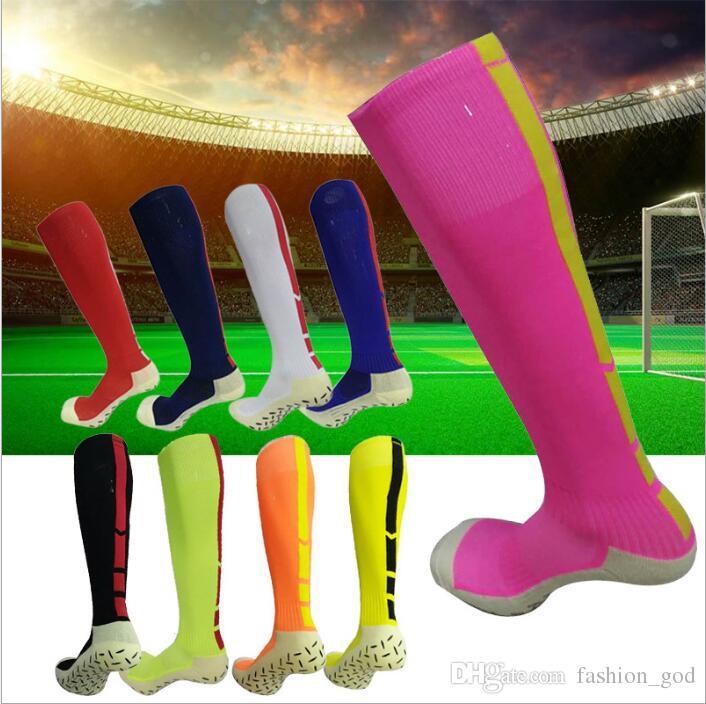 8cd19c46f6e4d 2019 Socks Mens Football Athletic Knee High Socks Sports Skateboard  Stockings Fashion Running Sock Calcetines Non Slip Hosiery Men Underwear  4455 From ...