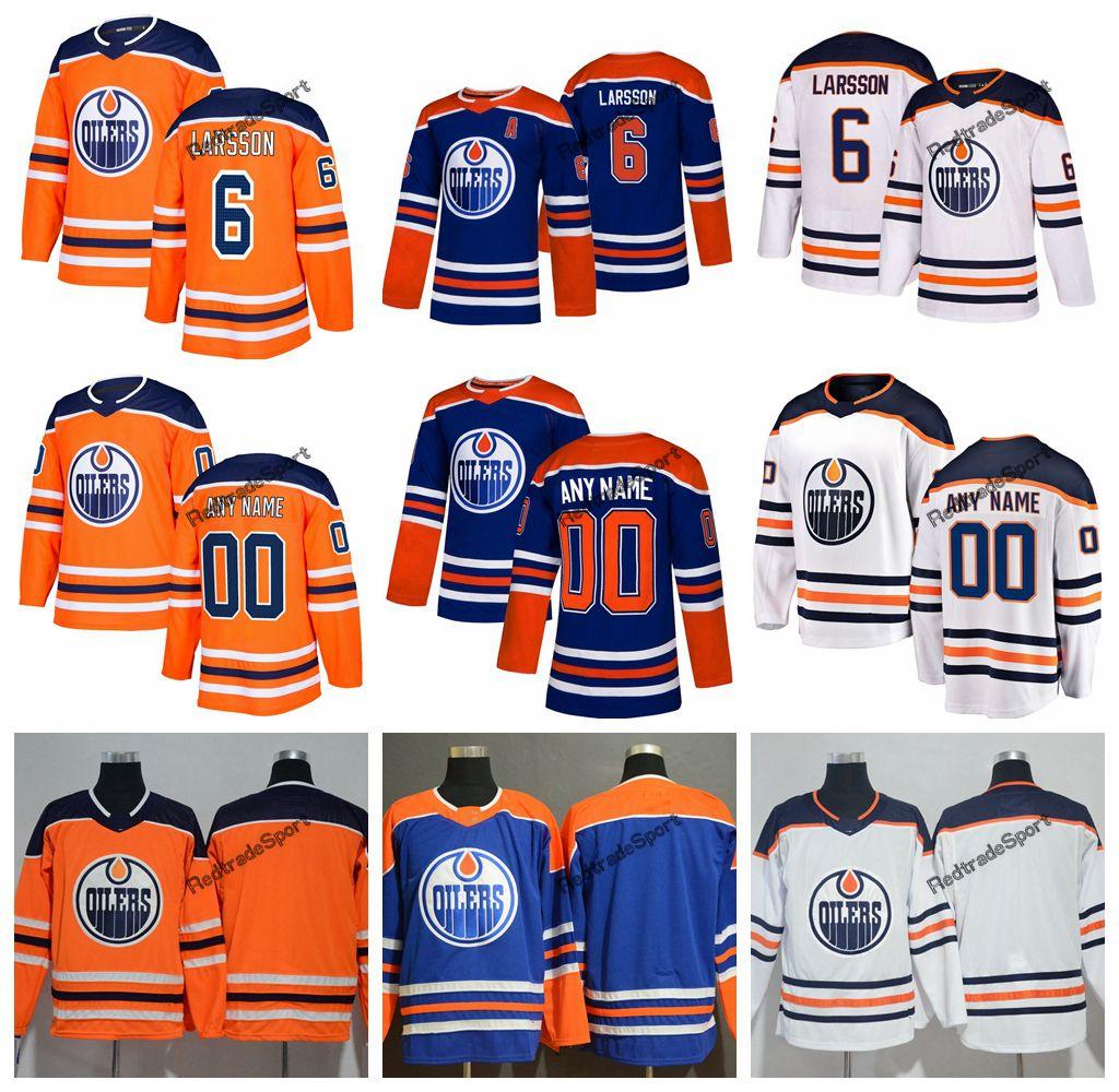 2019 Customize Edmonton Oilers Adam Larsson Hockey Jerseys Cheap Mens New  Blue Orange 6 Adam Larsson Stitched Jerseys Shirts A Patch UK 2019 From ... 1d792a591