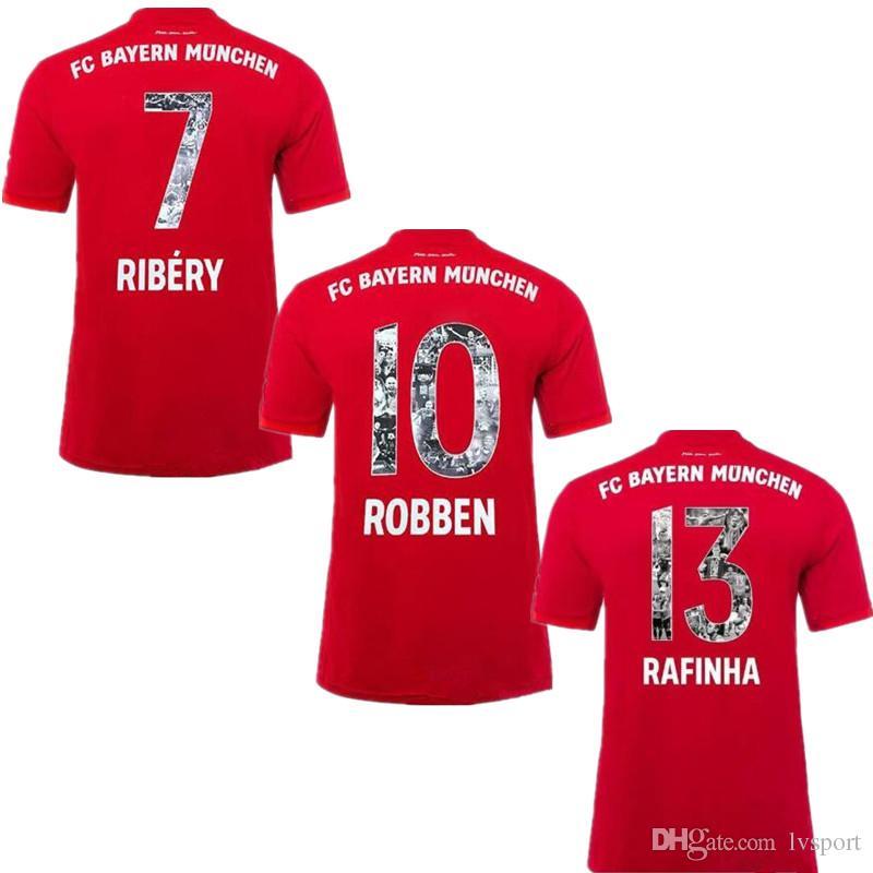 info for 6953d dc13b 2019 Special Font #7 RIBERY #10 ROBBEN Bayern Soccer Jerseys XXXL 19/20  Bayern Munich Soccer Shirts #13 RAFINHA Football Uniforms 3XL