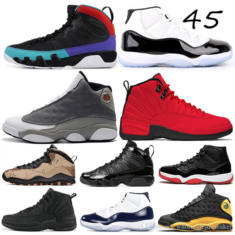brand new 94ffd 1d980 Basketball Shoes 11s Concord Bred Win Like 12s Bulls Westbrook 13s Melo  Atmosphere Grey Dream It Do It Mens Sports Sneakers 7-13