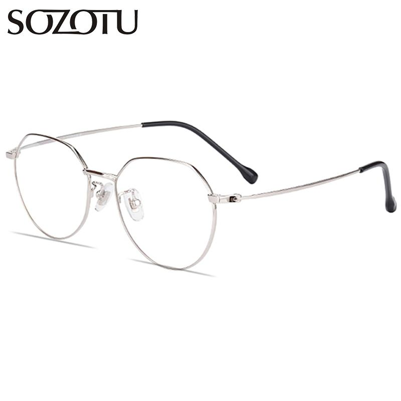 e41aaf9946 2019 SOZOTU Titanium Optical Eyeglasses Frame Women Computer Glasses  Prescription Myopia Spectacle Frame For Female Clear Lens YQ604 From  Melontwo