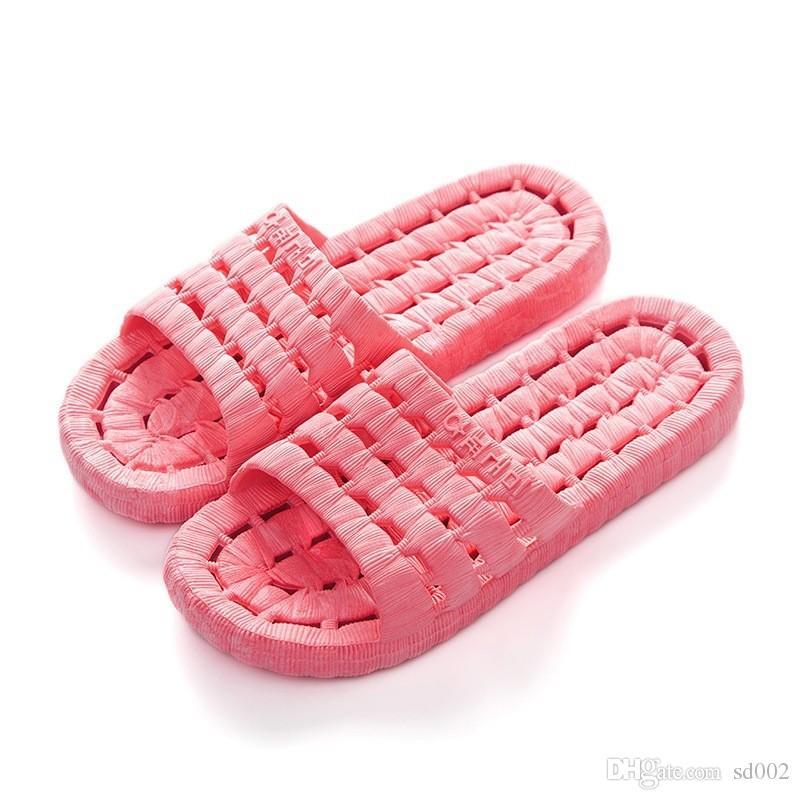 5f74e658df1005 Sola macia do chuveiro do quarto chinelo de água vazamento antiderrapante  sandálias acessórios do banheiro tomar um banho quatro temporizadores ...