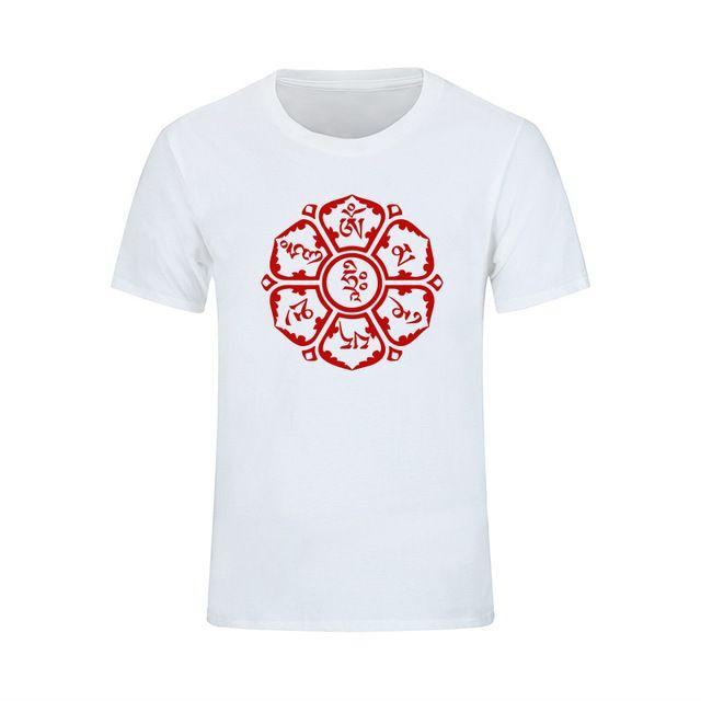 a10dd95d 2019 Womens Luxury Designer T Shirts New Summer JN BUDDHISM OM MANI ...