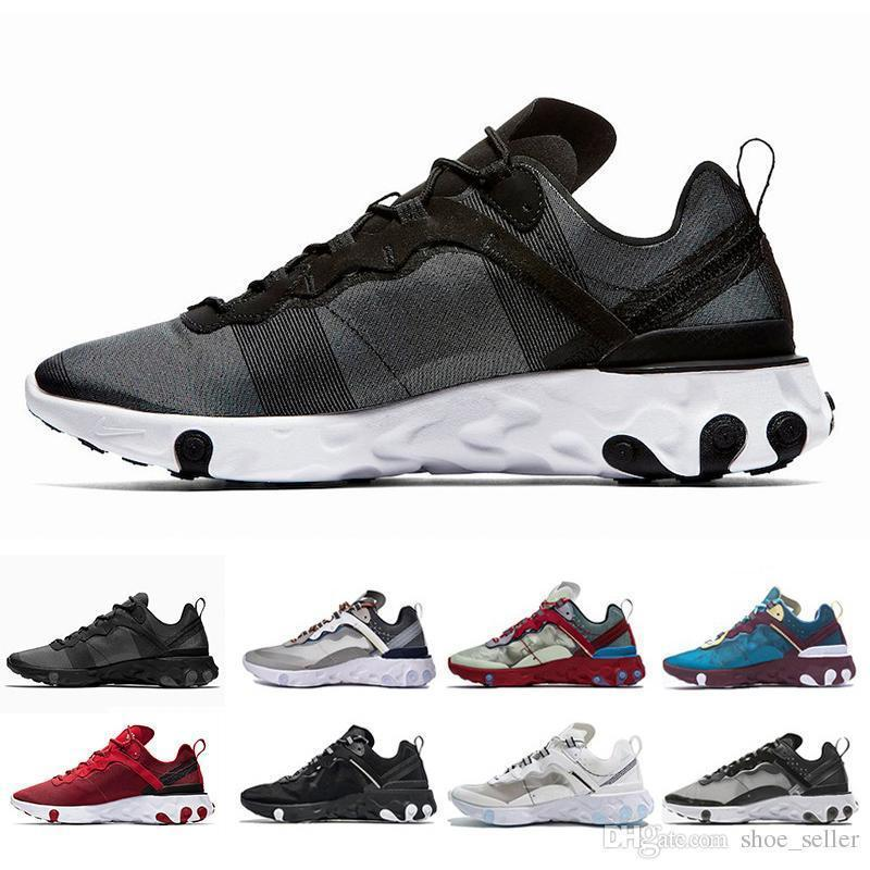 Epic React Element 87 55 Undercover Running Shoes For Women Designer Sneakers Sports Mens Trainer 55s 88s Sail Light Bone Sneakers