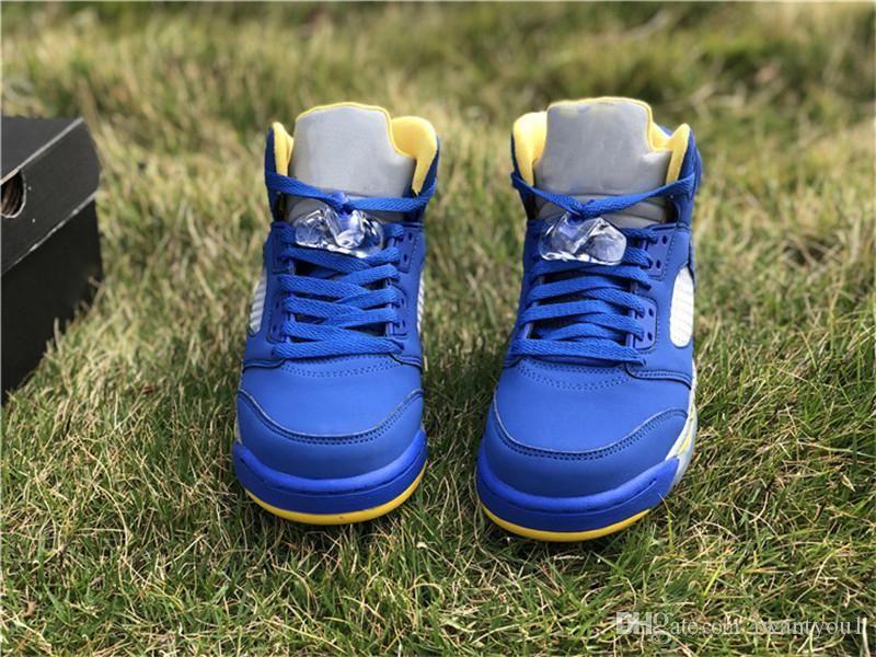 91c464fd5bd6 2019 Authentic Air 5 JSP Laney Basketball Shoes Men Sports Varsity Royal  Light Charcoal Varsity Maize CD2720-400 With Original Box 5-13 JSP Laney  Varsity ...