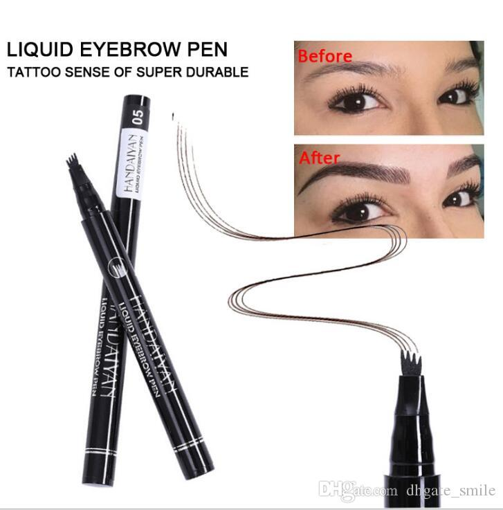 Dhl Free Handaiyan Eyebrow Pencil Waterproof Fork Tip Eyebrow Tattoo