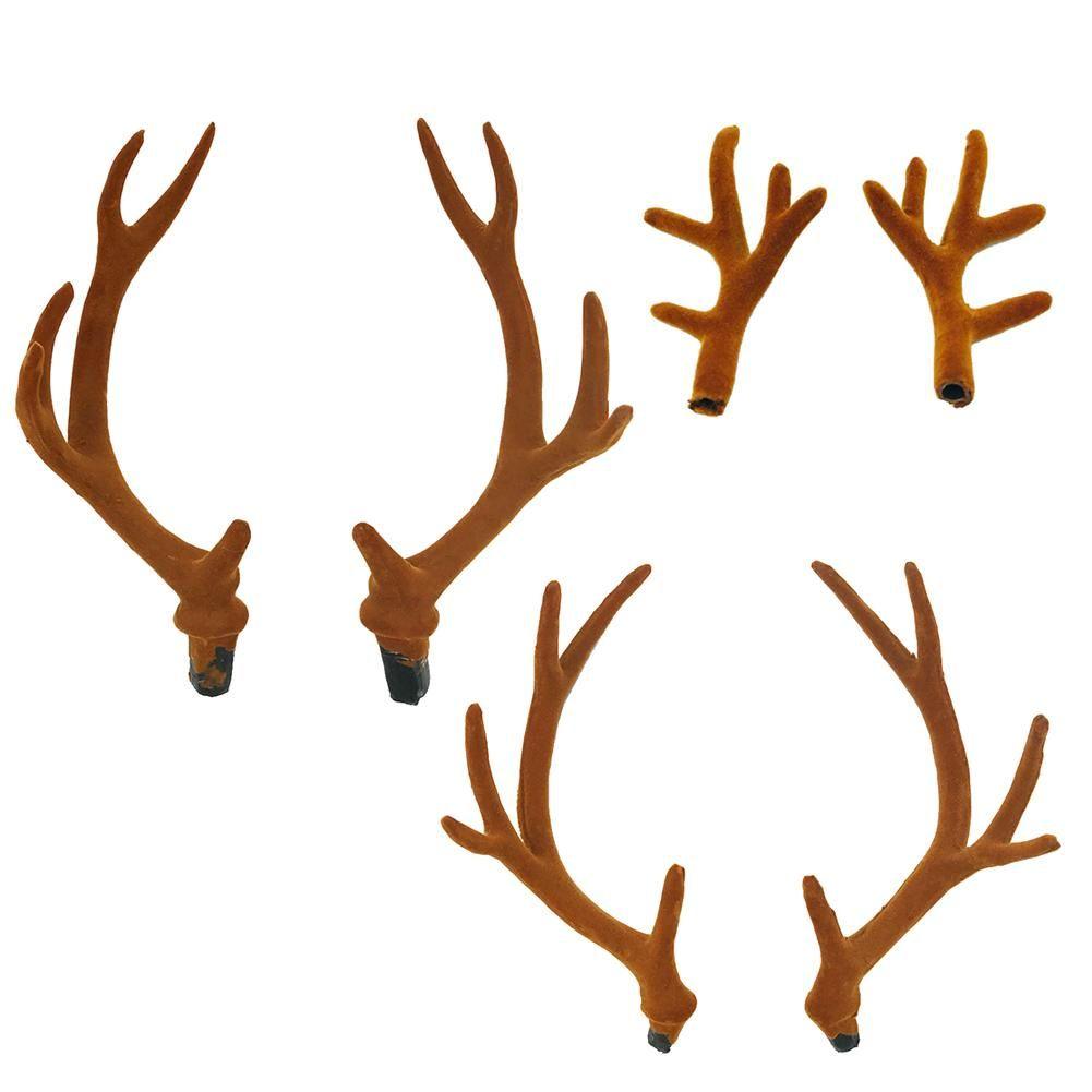 d090fa0e3c537 A Pair Of Imitation Antler Headgear Hair Hoop Velvet Deer Antler Sika Deer  Christmas Party Supplies Photography Prop Buy Outdoor Christmas Decorations  Buy ...