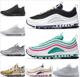 the latest c3317 2862b 2018 Undefeated 97 Ultra OG Plus Men Running Shoes air Run Gold Silver 97s  Sports Maxes Mens Womens Trainers Athletic Designer Sneakers