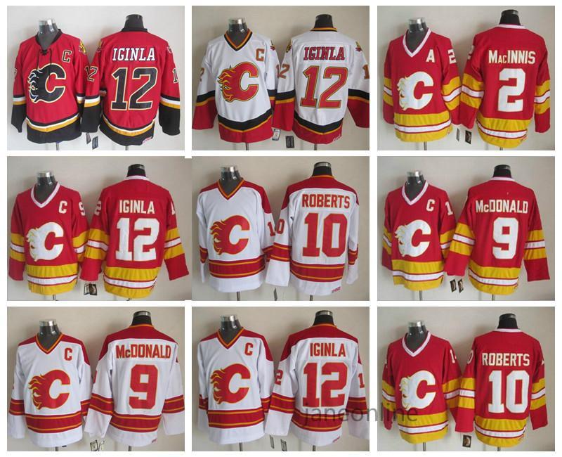 d790adf827e 2019 Men Vintage 12 Jarome Iginla Jersey Calgary Flames Hockey 2 Al  Macinnis 9 Lanny McDonald 10 Gary Roberts Throwback CCM Stitched Jersey  From Janeonline, ...