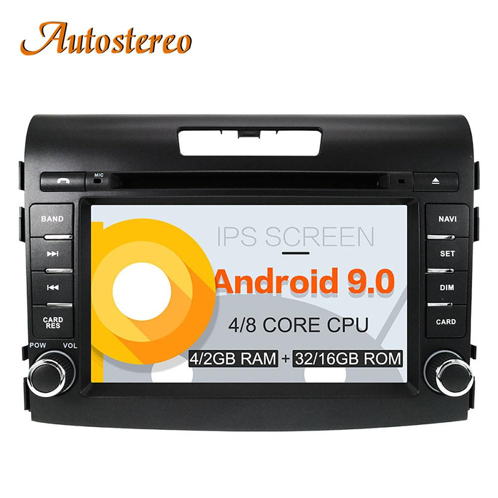 Android 9 Car DVD Player for Honda CRV 2012-2016 GPS navigation stereo head Unit 2 DIN Radio tape recorder multimedia IPS