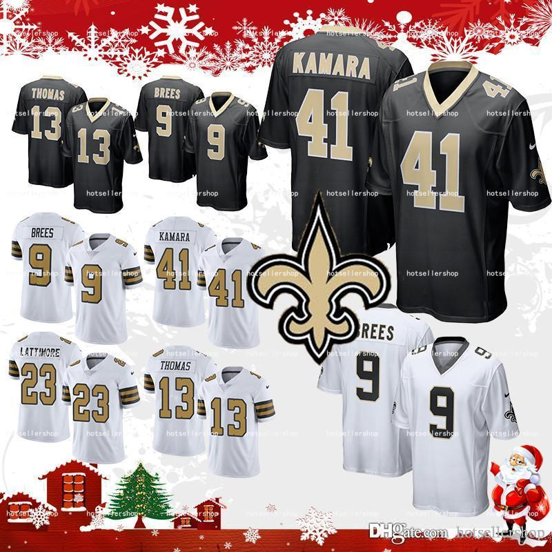 release date: 4ca53 0ed12 new orleans saints jersey 41 Alvin Kamara football jerseys 9 Drew Brees 23  Marshon Lattimore 13 Michael Thomas 28 Adrian Peterson