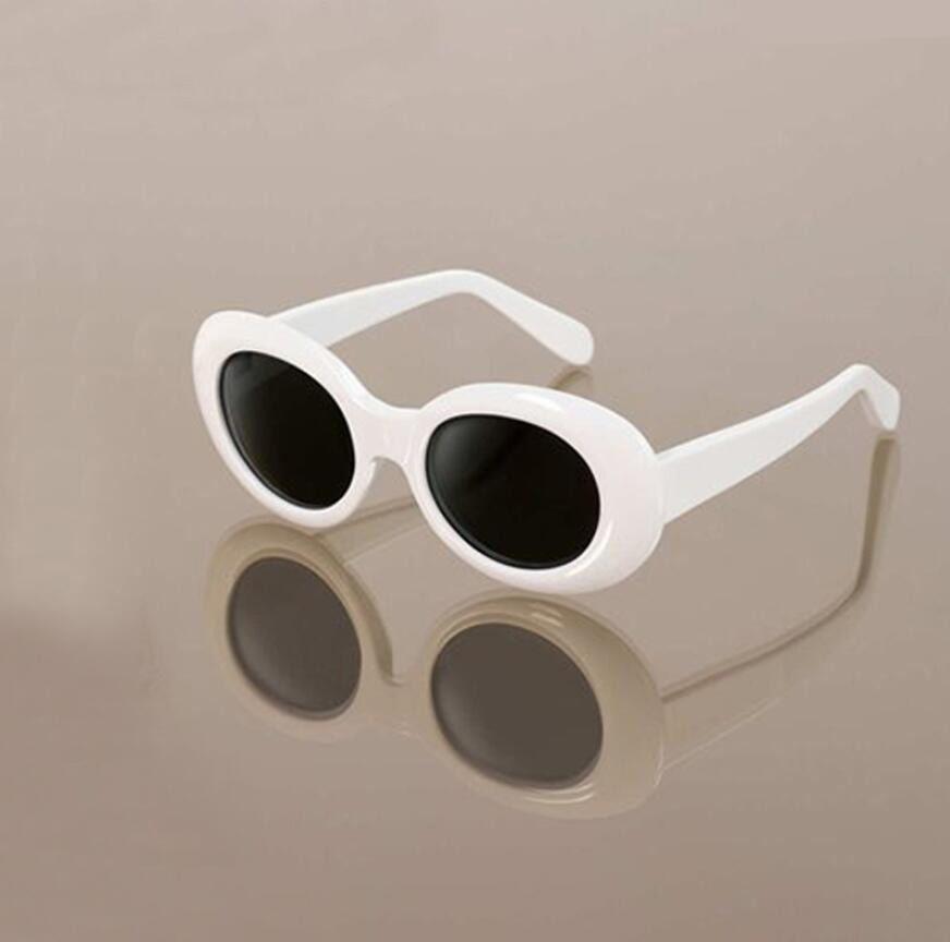 6b3eb994ea754 Fashion Clout Goggles NIRVANA Kurt Cobain Glasses Classic Vintage Retro  White Black Oval Sunglasses Alien Shades Sun Glasses Punk Rock Glass Heart  ...