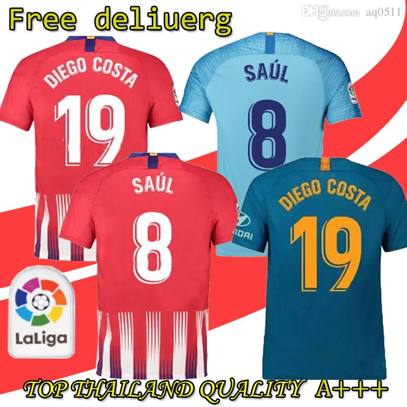 6d3ff6cdf 8 SAUL Atletico Men Madrid Soccer Jerseys Youth 7 GRIEZMANN 19 COSTA ...