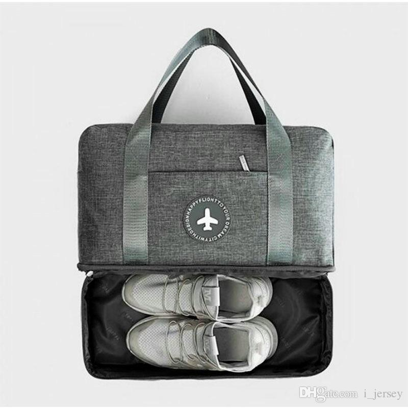 2019 Mens Gym Bag With Compartment For Shoes Dry And Wet Separation