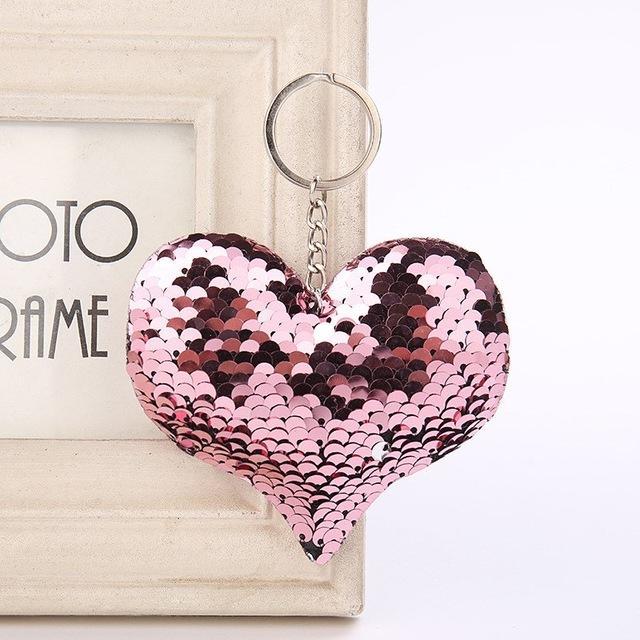 Cute Women Heart Keychain Glitter Sequins Key Ring for Women Handbag Purse  Pendants Holder Keyring Porte Clef Llaveros Keychains Heart Keychain Key  Ring for ... 565a979d6