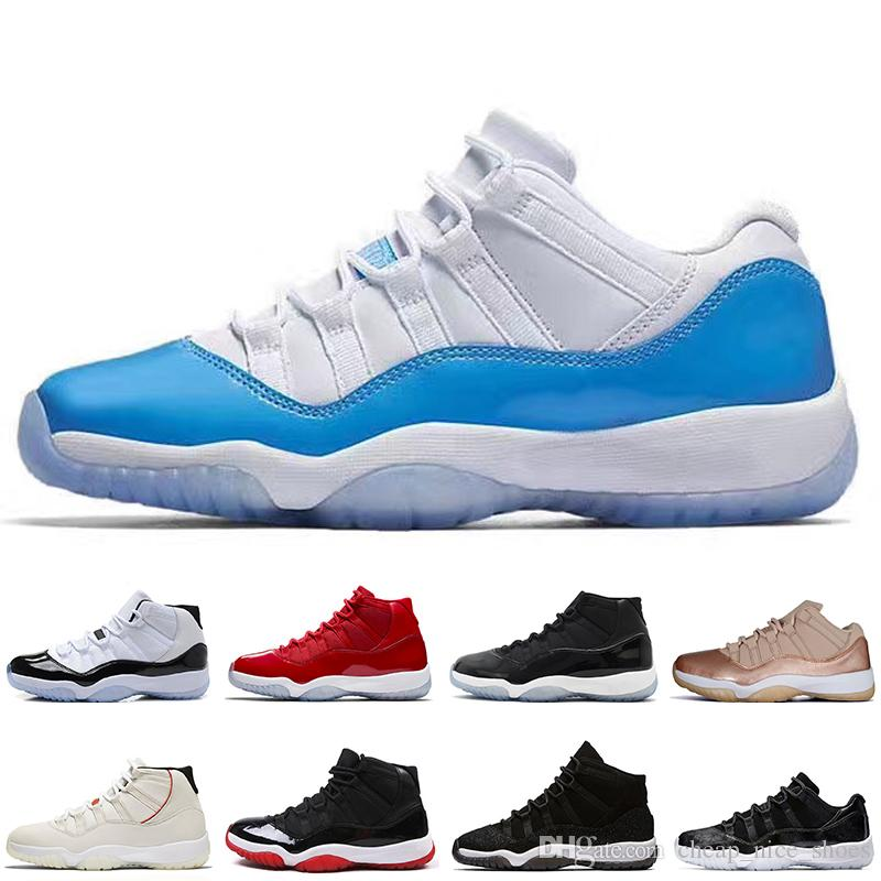 big sale abc9d ddc99 NEW 11 11S Low Rose Gold Space Jams 45 men Basketball Shoes High 72-10  Concord 45 Heiress Black Stingra men Sport Sneakers trainers designer