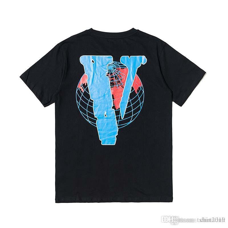 101f5936f 2019 High-quality Cotton New Short-sleeved T-shirt Brand Big V Men's ...