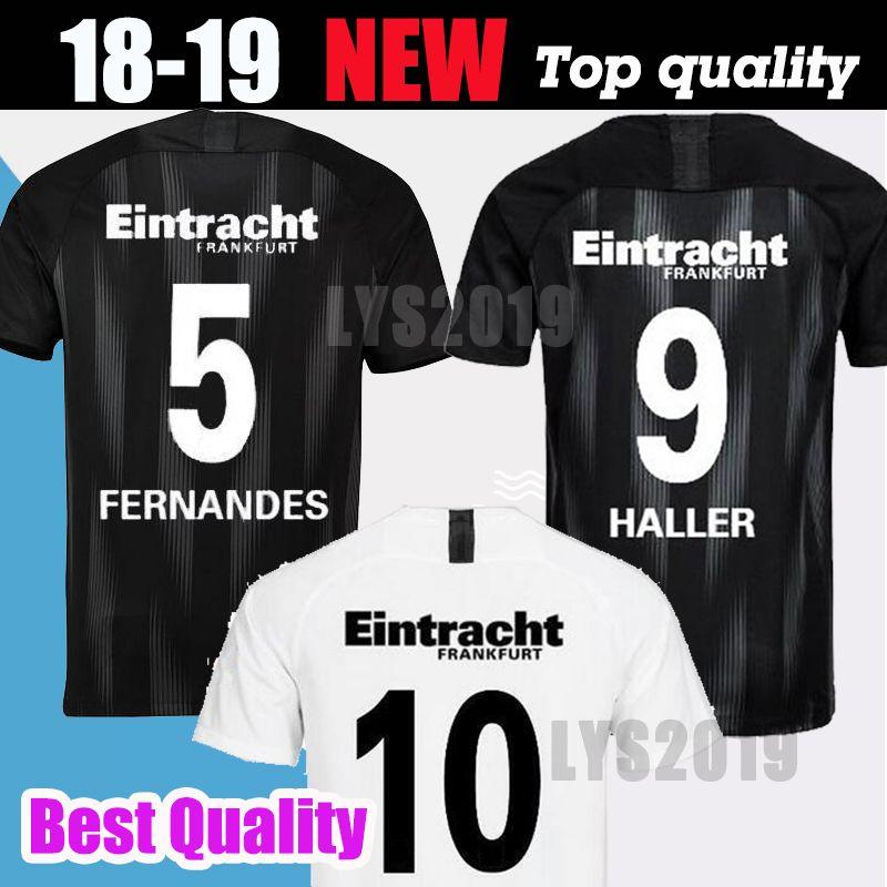 4fa8ab301d3 2019 18 19 Eintracht Frankfurt Soccer Jersey Home Away 2018 2019 Frankfurt  Europa League HALLER JOVIC REBIC Football Shirts Top Quality Customize From  ...