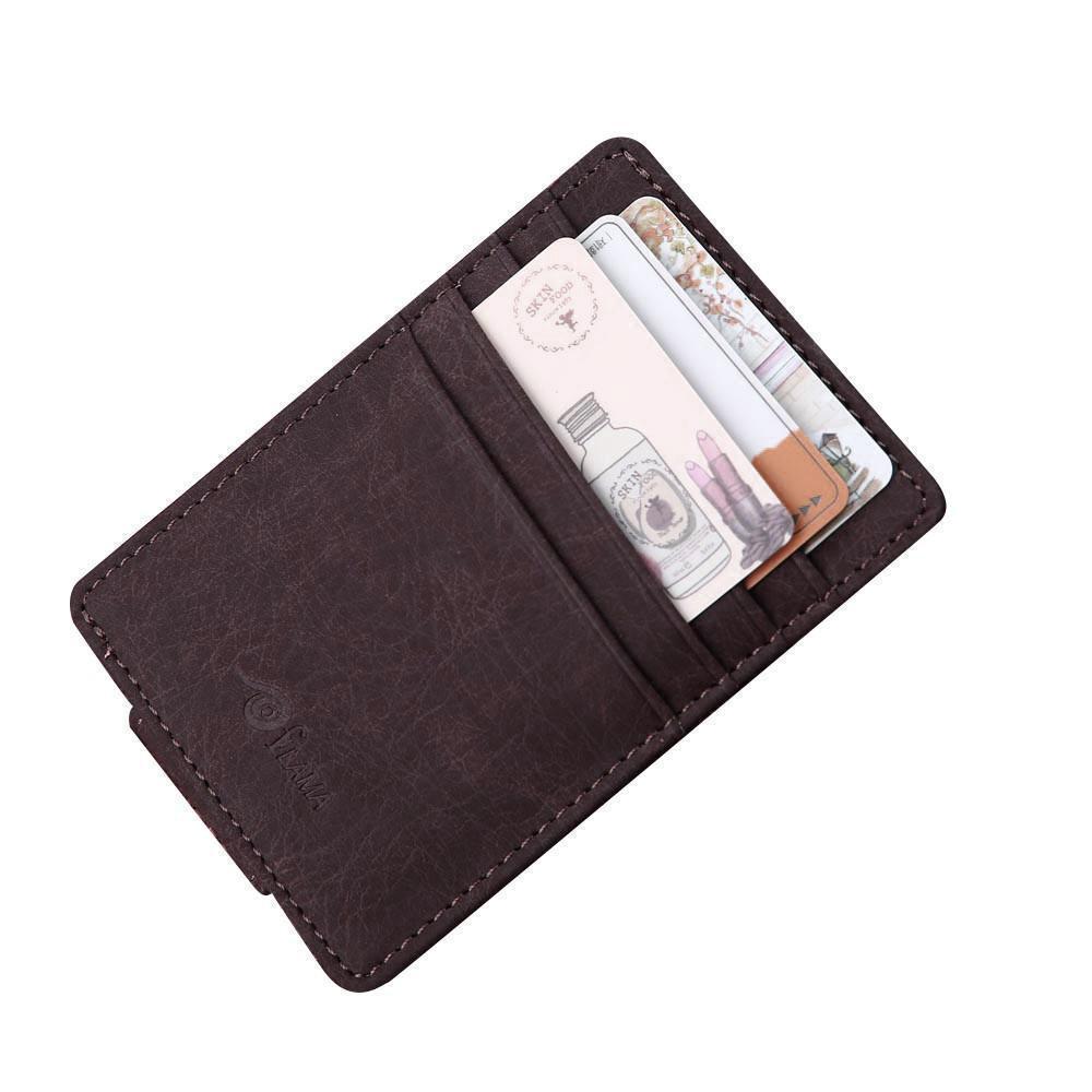 Card & Id Halter Kunstleder Falten Design Mehrere Kartensteckplätze Kreditkarte Id Visitenkartenhalter