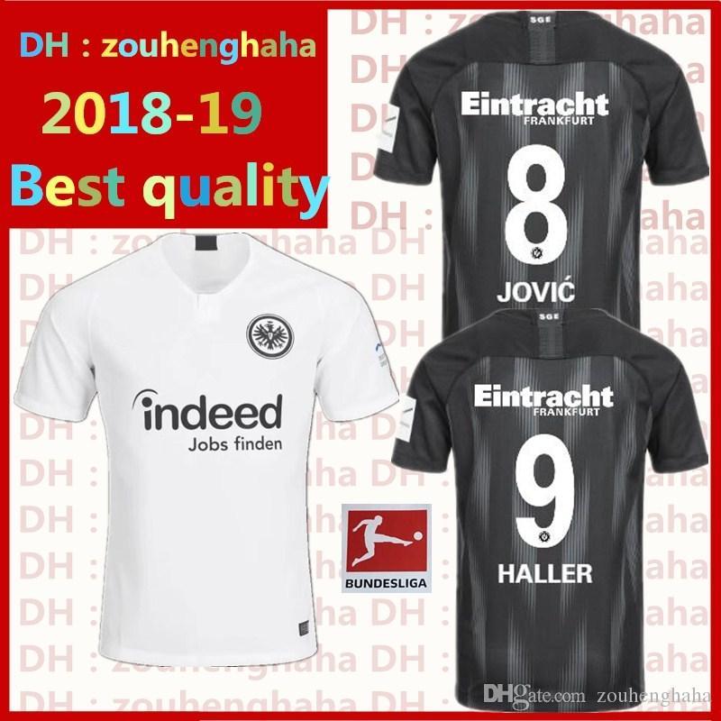Großhandel Eintracht Frankfurt Soccer Jersey 2018 2019 Home Weg