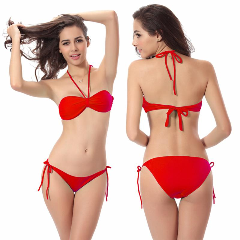 Much Valuable Removable Neck Halter Butterfly Top Classic Tied Butt 2019 Women Swimwear Vs Bikini Dropshipping