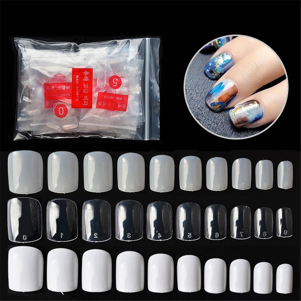 Health & Beauty 500 Pcs Acrylique Français Couleur Clair Full Cover Faux Doigt Outils Nail Art Nail Care, Manicure & Pedicure