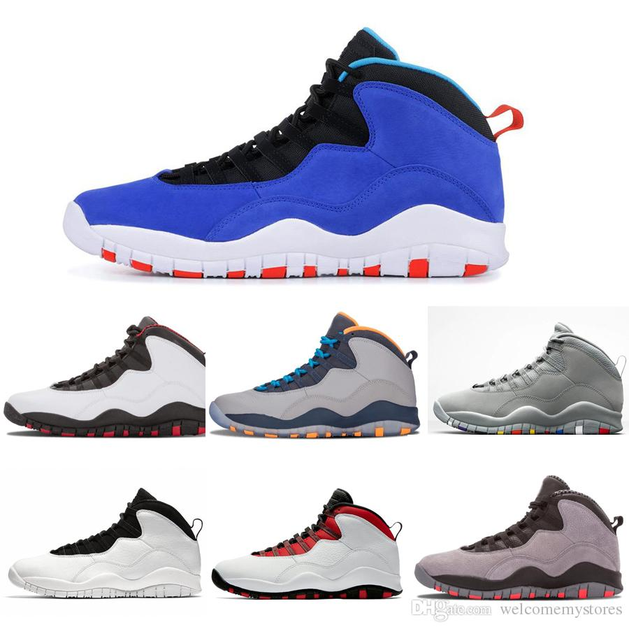 the best attitude 26406 72e6c 2019 Tinker Huarache Light 10s Retro Basketball Shoes Cement 10 Westbrook I  m back White Black Cool Grey Men Sports Sneakers Shoes